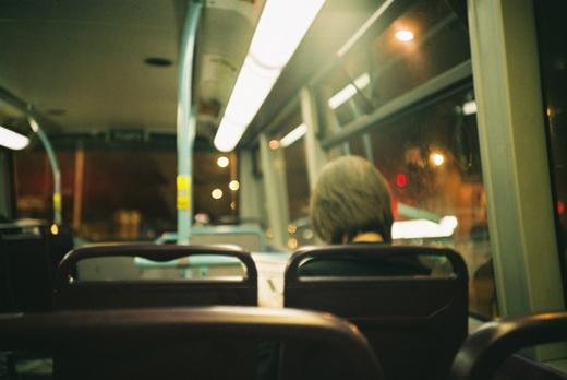 런던 버스 내부