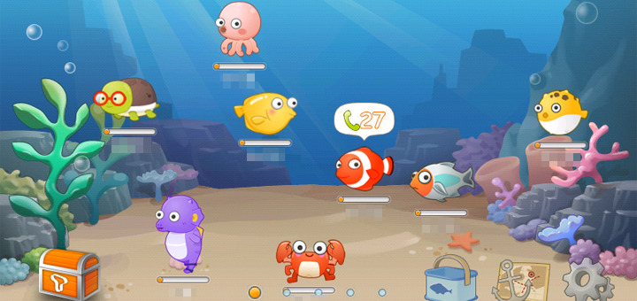 어장관리 어플리케이션 정상적인 수생동물