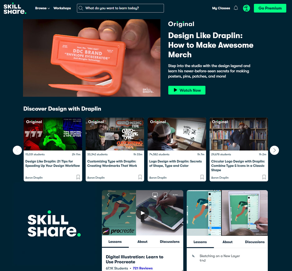 skt, skillshare, 온라인수업, 취미배우기