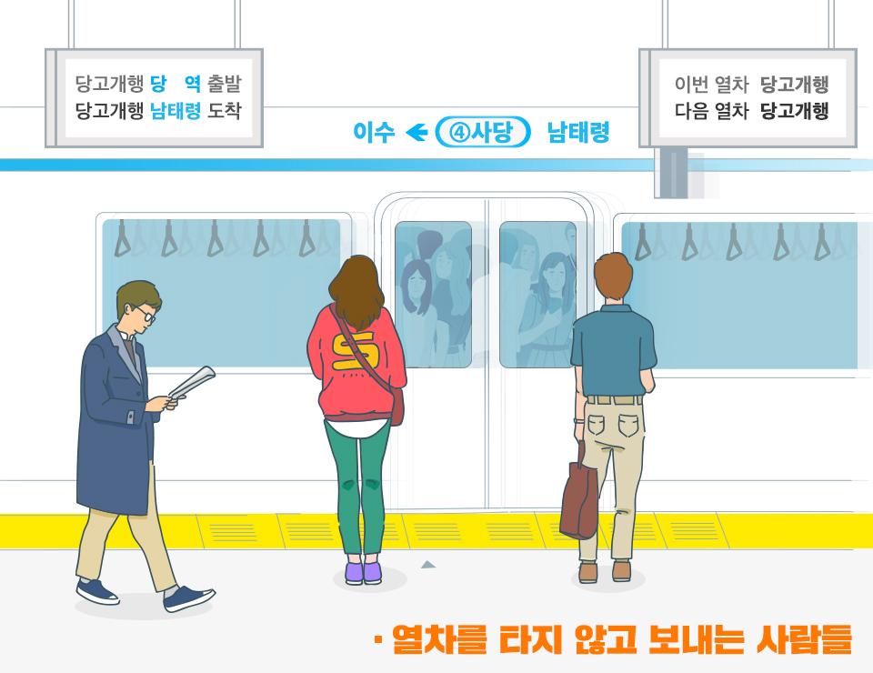 SKT, SK텔레콤, 지하철, T데이터, SK지하철리포트, 지하철이용법, 지하철만랩, 지하철이용꿀팁, 4호선이용법, 이수역, 사당역, 지하철자리잡는법