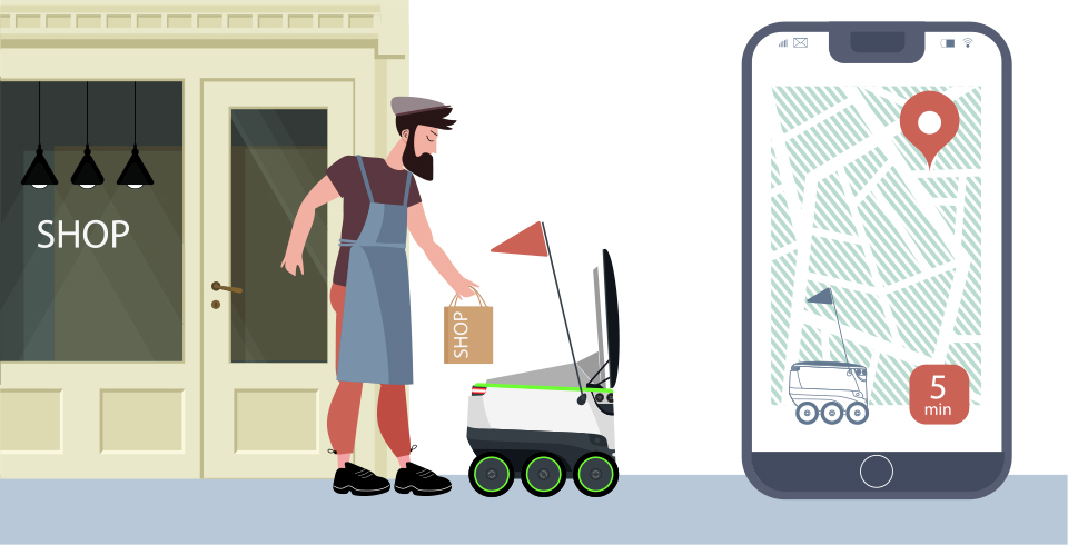 라스트마일, 자율주행로봇배송, 배송로봇, 로봇배송, 로봇산업, 사물인터넷, 5g, IOT